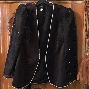 Jovani Black Evening Jacket Embellished w/ Pearls
